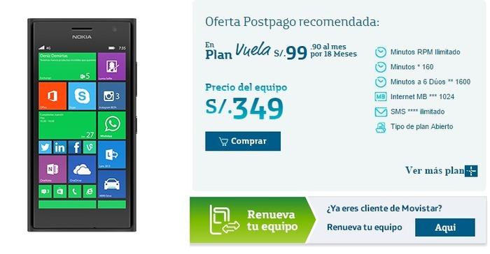 Nokia Lumia 735 Movistar Perú