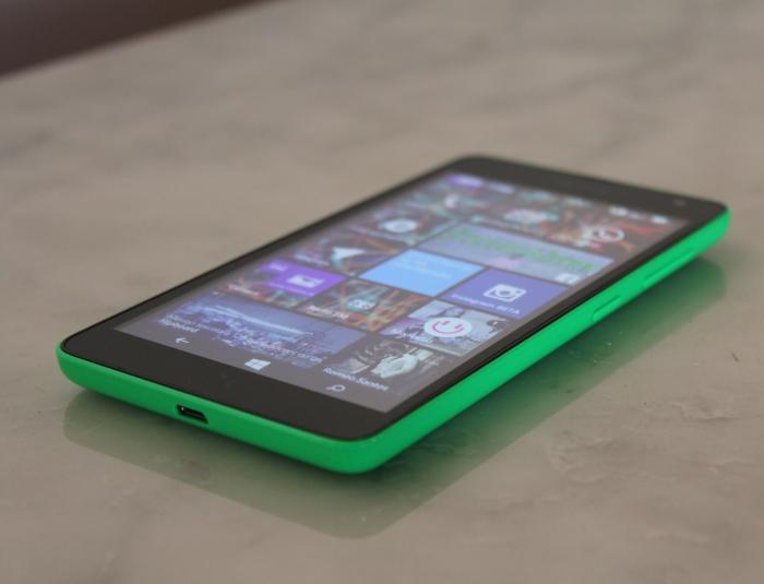 Lateral del Microsoft Lumia 535