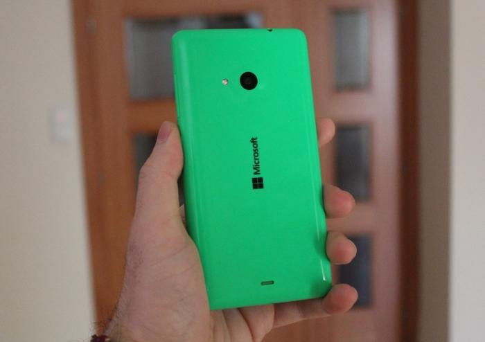 Parte trasera del Microsoft Lumia 535