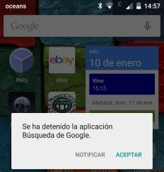error busqueda google android