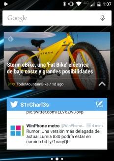 widgets en android frente windows phone