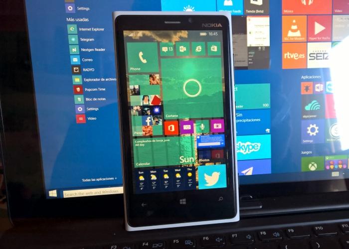 windows 10 en nokia lumia 920 con window 10 en PC