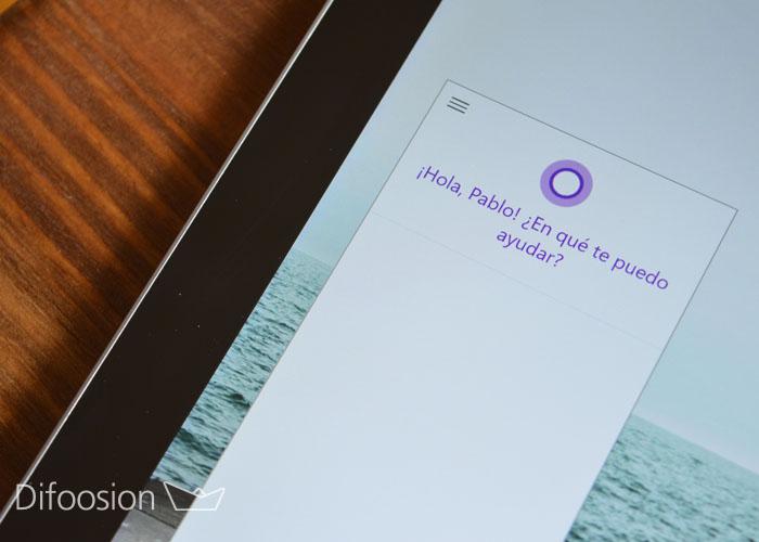 Cortana en Surface Pro 3