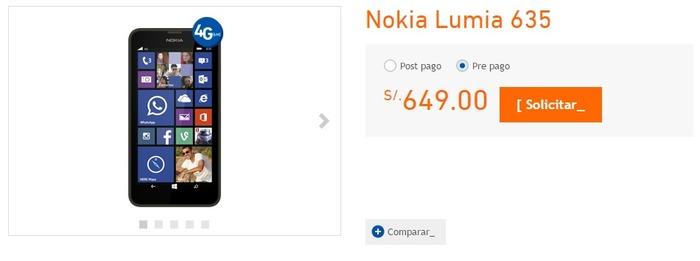 Lumia 635 Peru