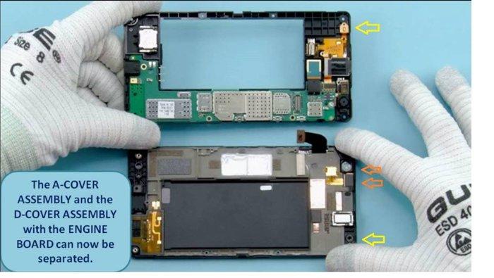 Lumia 735 desmontado