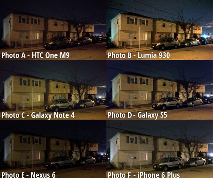 Lumia 930 camara de noche