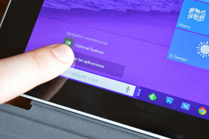 Windows 10 Surface Pro 3 tactil