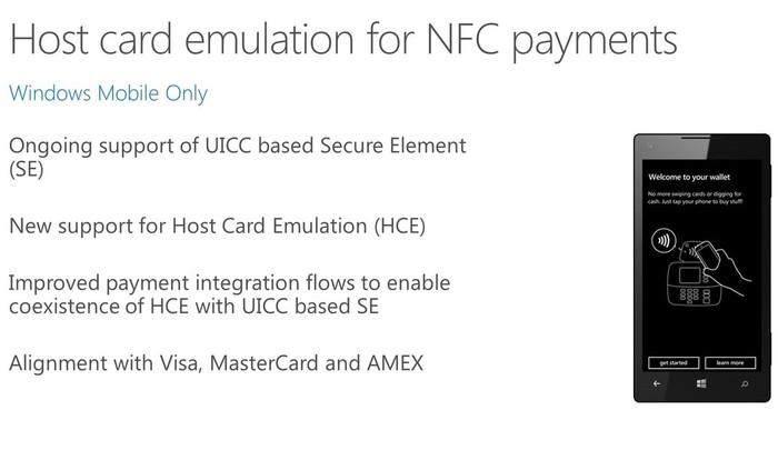 Windows 10 para moviles NFC