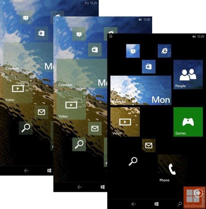 Windows 10 tiles opcion