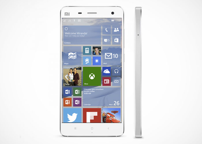 Xioami Mi4 Windows 10 Phone