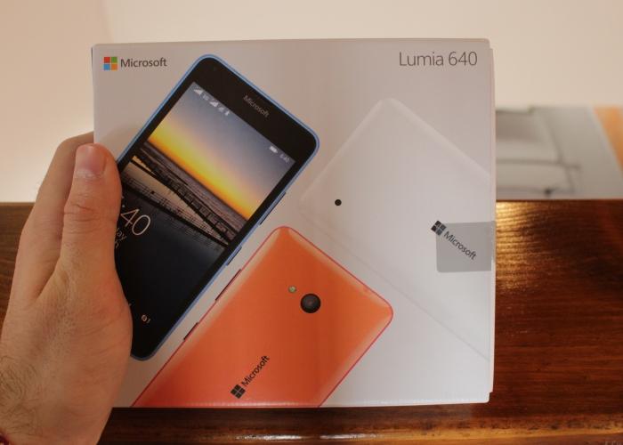 Lumia 640 empaquetado