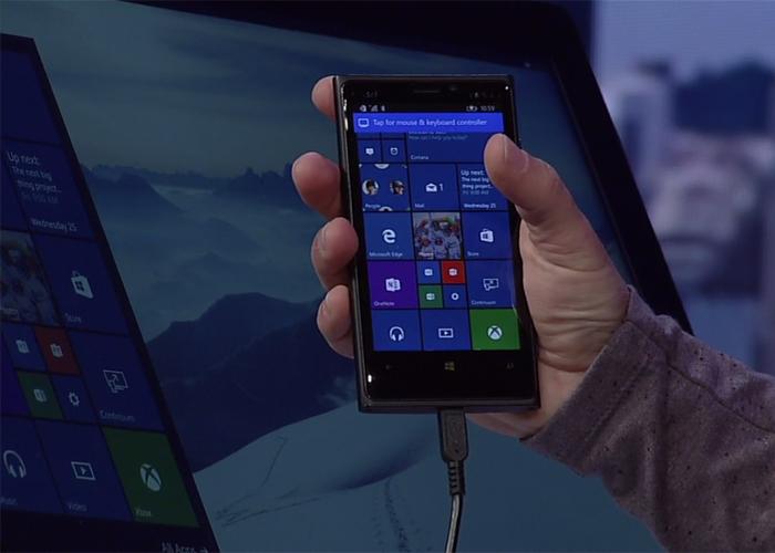 Continuum for Phones Build 2015