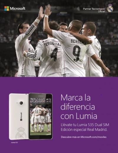 Lumia 535 Real Madrid