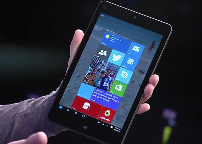 Windows 10 Build 2015 en tablets