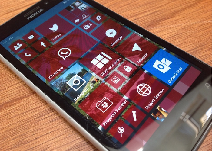 Windows 10 movil Pantalla inicio