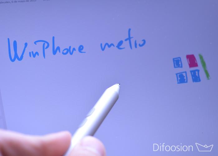 Surface lapiz y Winphone metro