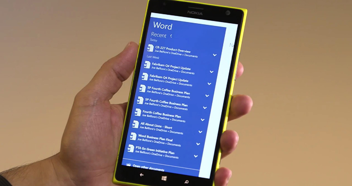 Windows 10 office apps mobile
