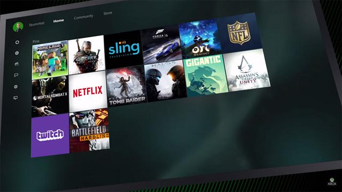 Nueva interfaz de usuario Xbox One