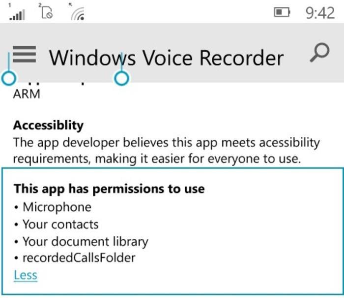 Grabación llamadas de voz Windows 10 Mobile