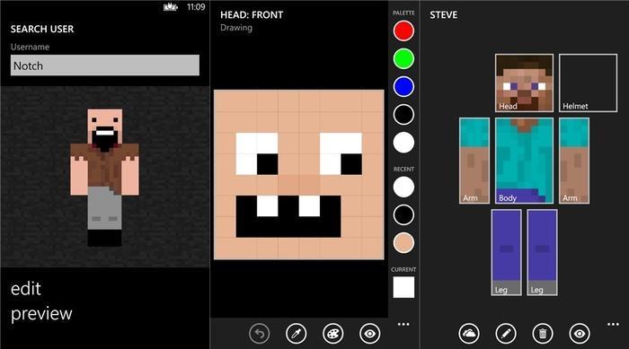 Cómo Crear Skin Minecraft En Windows Winphone - Skins para minecraft pocket edition gratis