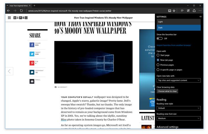 Microsoft Edge Build 10158
