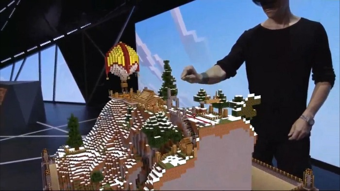 Minecraft en Holo Lens