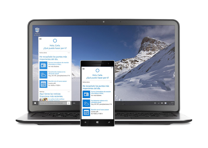 Windows 10 Cortana PC y movil