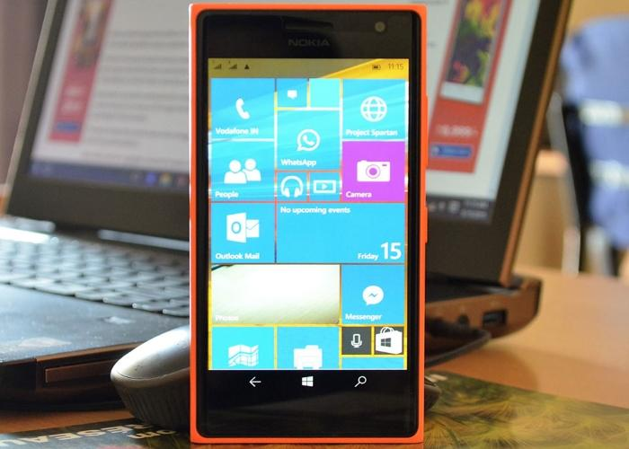 Windows 10 mobile Build 10080 en un Nokia Lumia 730
