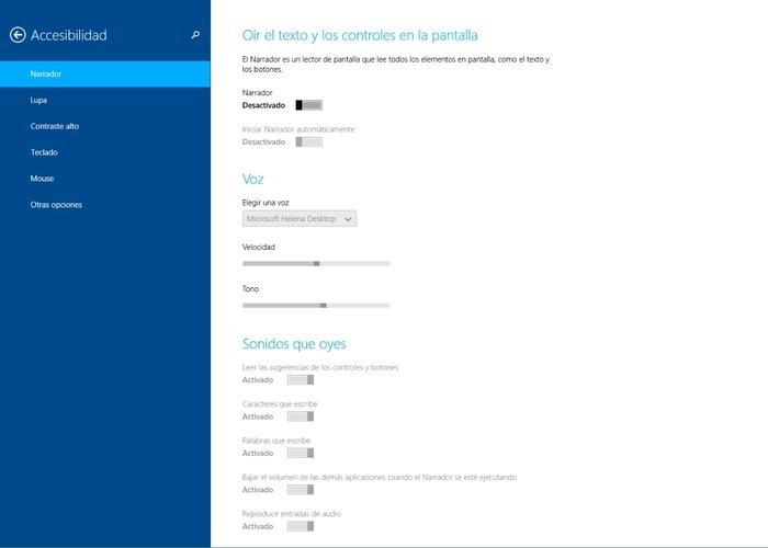 Windows 8.1 accesibilidad