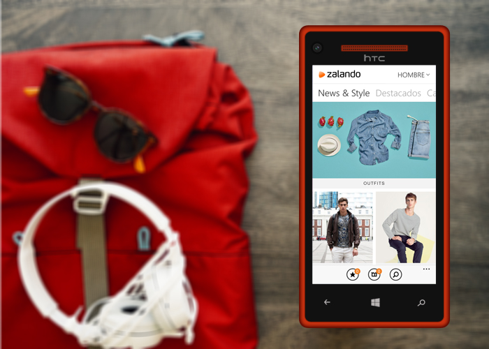 ZAlando aplicación en Windows Phone