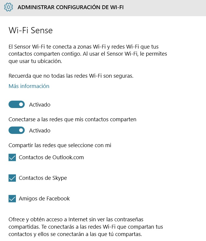activar wi-fi sense parte 2
