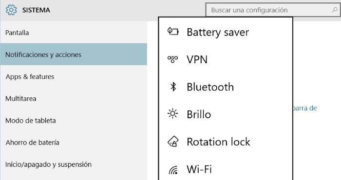 configurar acciones rapidas en windows 10 para PC parte 2