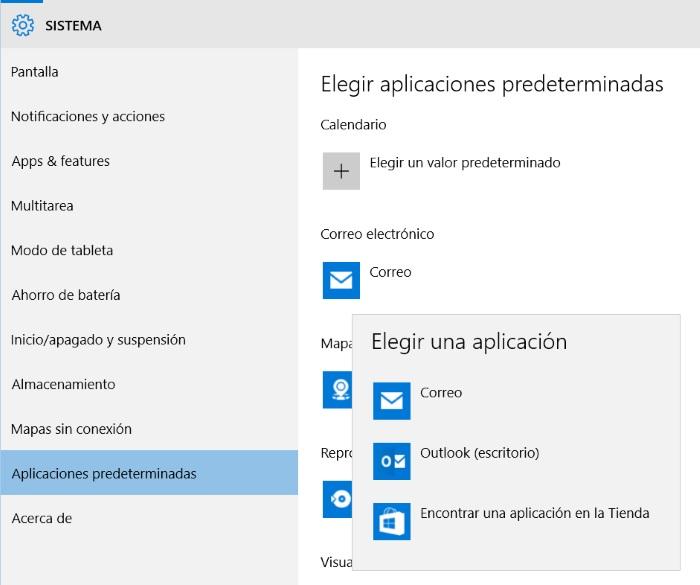 configurar aplicaciones predeterminadas para windows 10 pc
