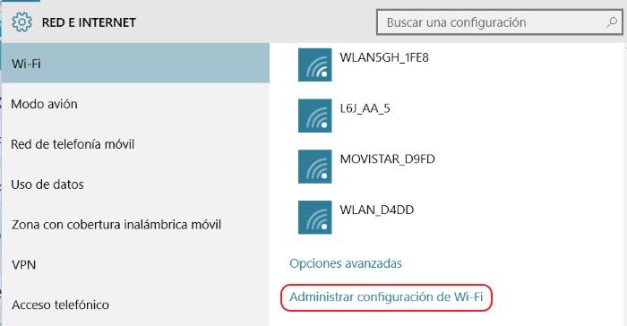 configurar wi-fi sense paso 1