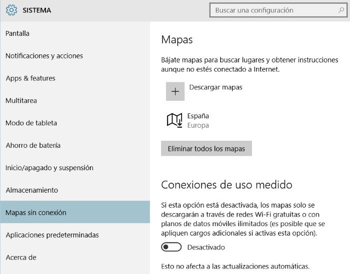 gestionar mapas offline en windows 10 para pc parte 1