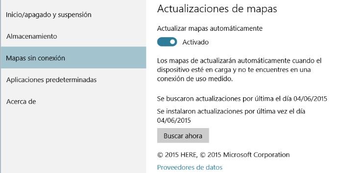 gestionar mapas offline en windows 10 para pc parte 2