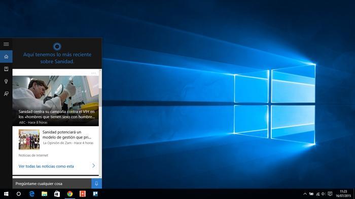 Cortana en Windows 10 PC y tablet copia