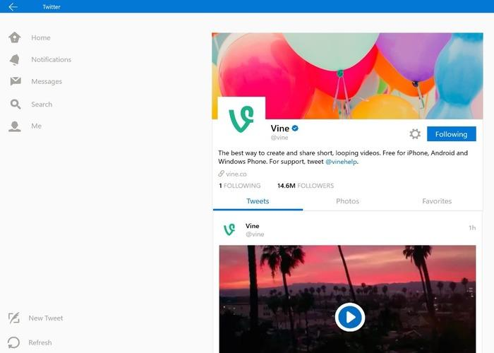 Twitter Windows 10