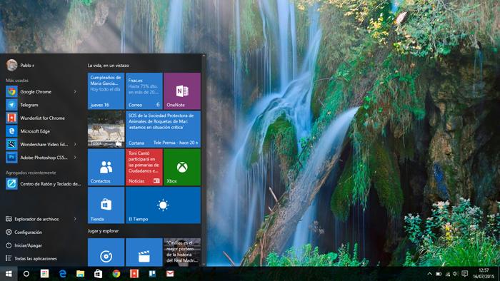 Windows 10 escritorio Pablo Rosillo