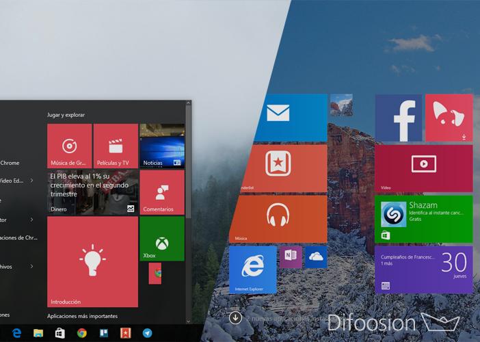 Windows 10 frente a frente con Windows 8.1