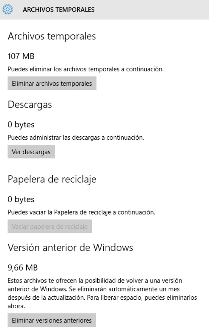 borrar ficheros temporales en windows 10 para pc
