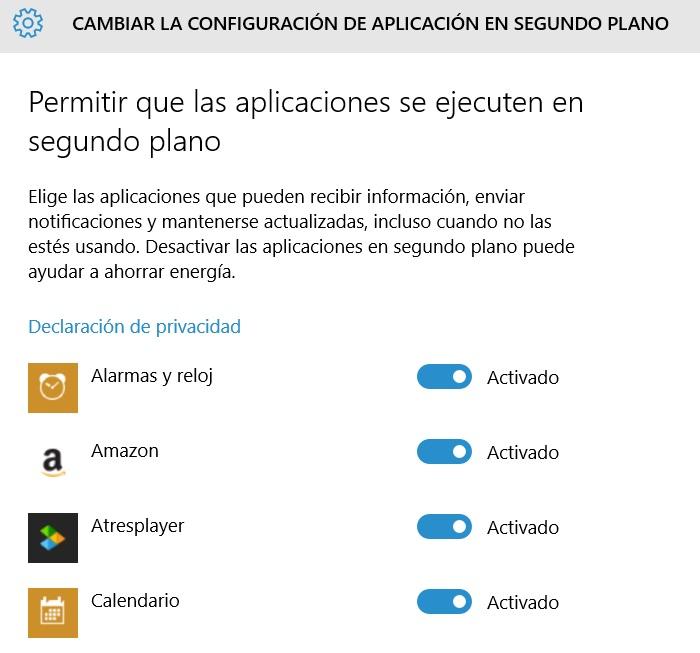 configurar aplicaciones en segundo plano en windows 10 para pc