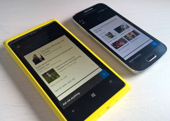 cortana android vs cortana windows 10 mobile
