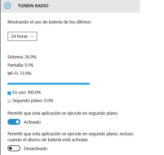 informe detallado de consumo de batería windows 10 pc