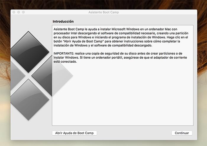 Instalar Windows 10 con Boot Camp