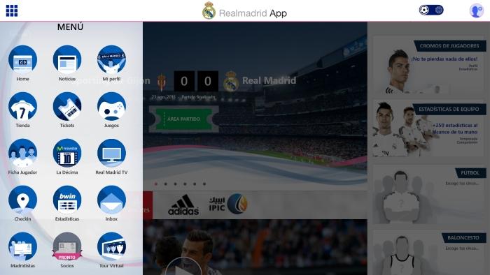 Aplicación del Real Madrid