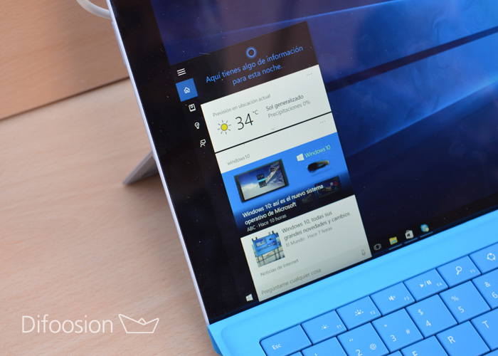 Cortana en Surface Pro 3
