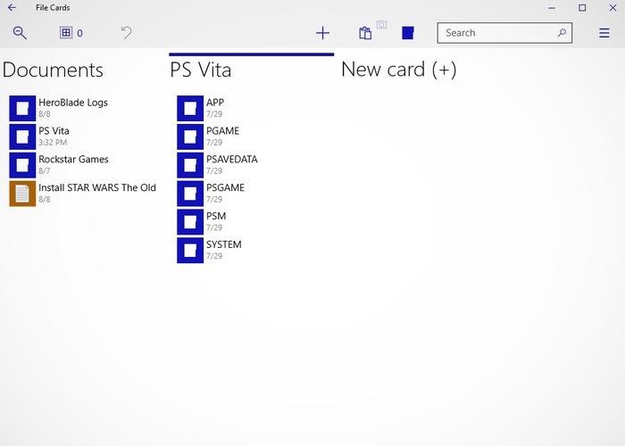 File Cards cabecera