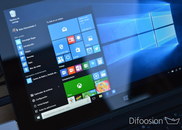 Menu Inicio o Start Menu en Windows 10 PC