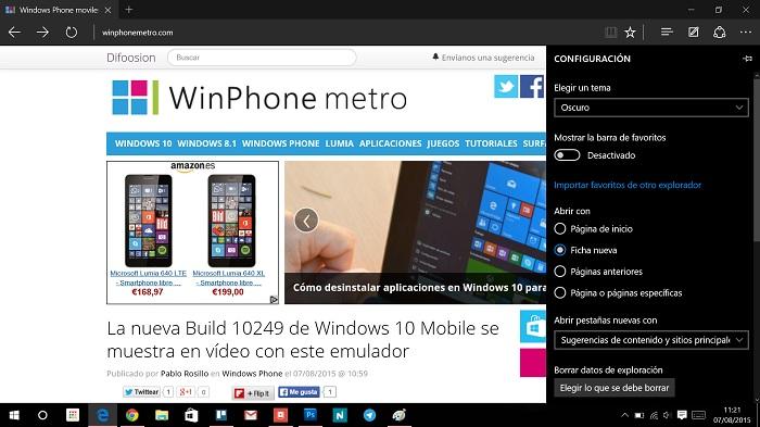 Microsoft Edge importar favoritos